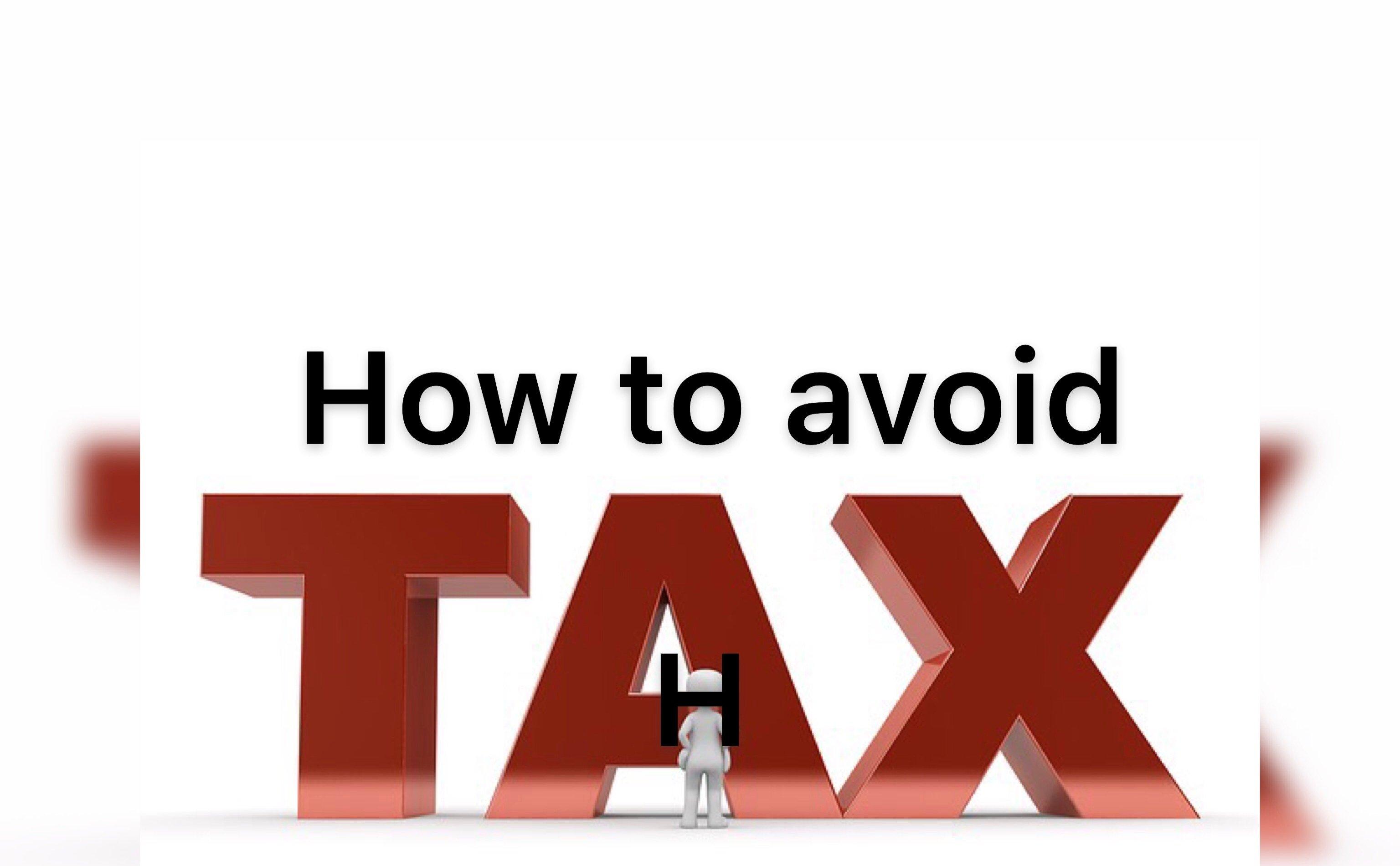avoid tax